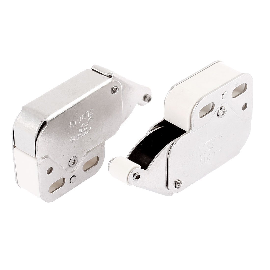 2 Pcs Push Open Touch Release Cabinet Cupboard Kitchen Catch Latch Press Spring