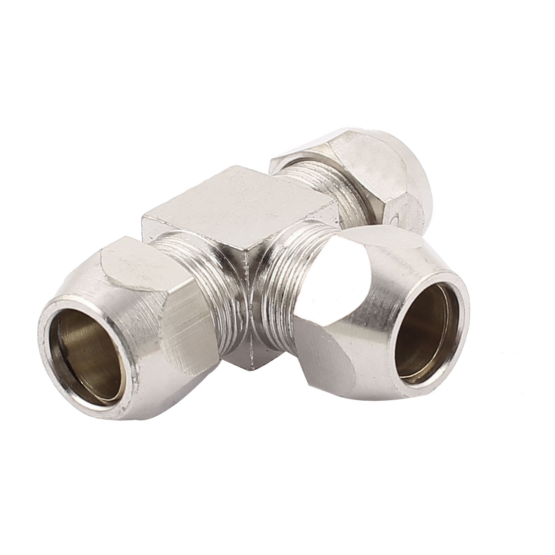 10mm Tube Dia 3 Ways T Shape Quick Coupler Connector Silver Tone