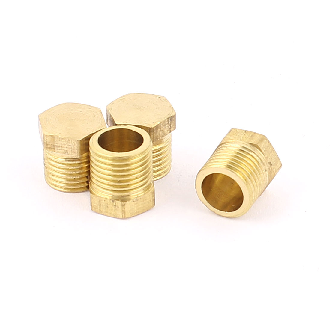 1/8BSP Male Thread Copper Hex Head Pipe Connector Coupling Adapter 4pcs