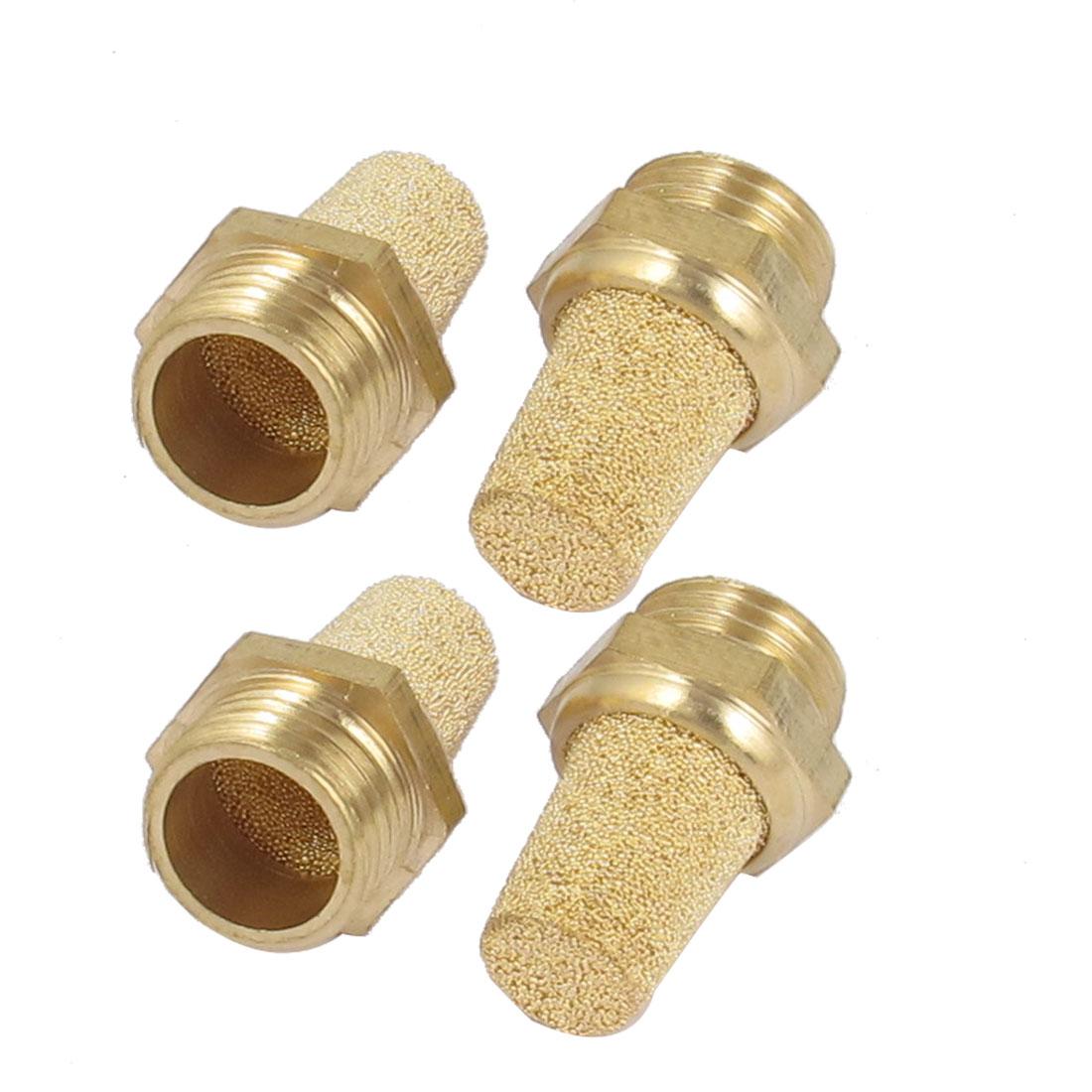 1/4BSP Thread Sintered Bronze Pneumatic Air Exhaust Silencer Muffler 4pcs