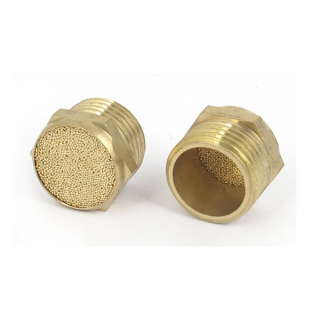 1/2BSP Thread Sintered Bronze Pneumatic Air Breather Silencer Muffler 2pcs