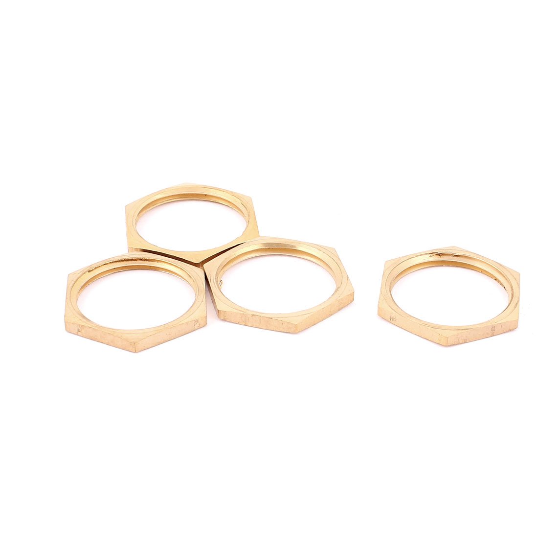 1BSP Female Thread Brass Pipe Fitting Hex Lock Nut 4pcs