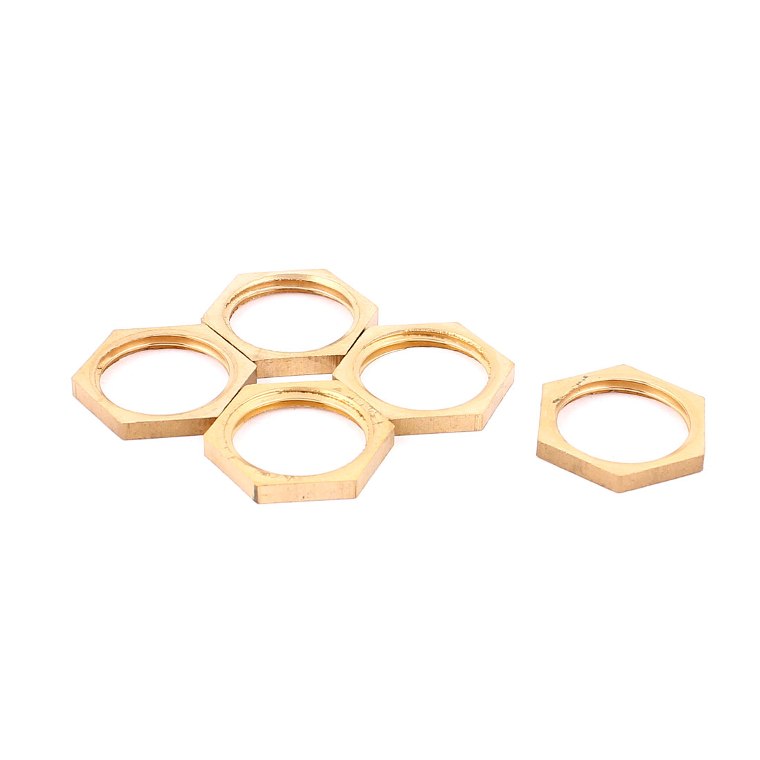 1/2BSP Female Thread Brass Pipe Fitting Hex Lock Nut 5pcs