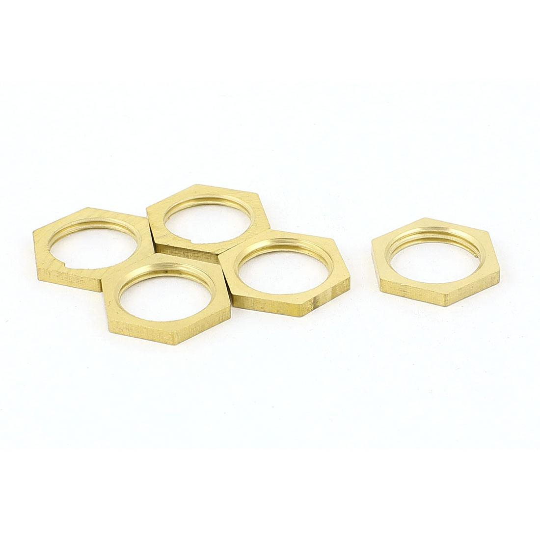 3/8BSP Female Thread Brass Pipe Fitting Hex Lock Nut 5pcs