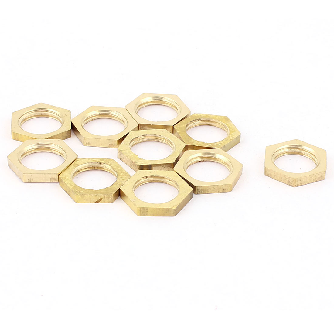 1/4BSP Female Thread Brass Pipe Fitting Hex Lock Nut 10pcs
