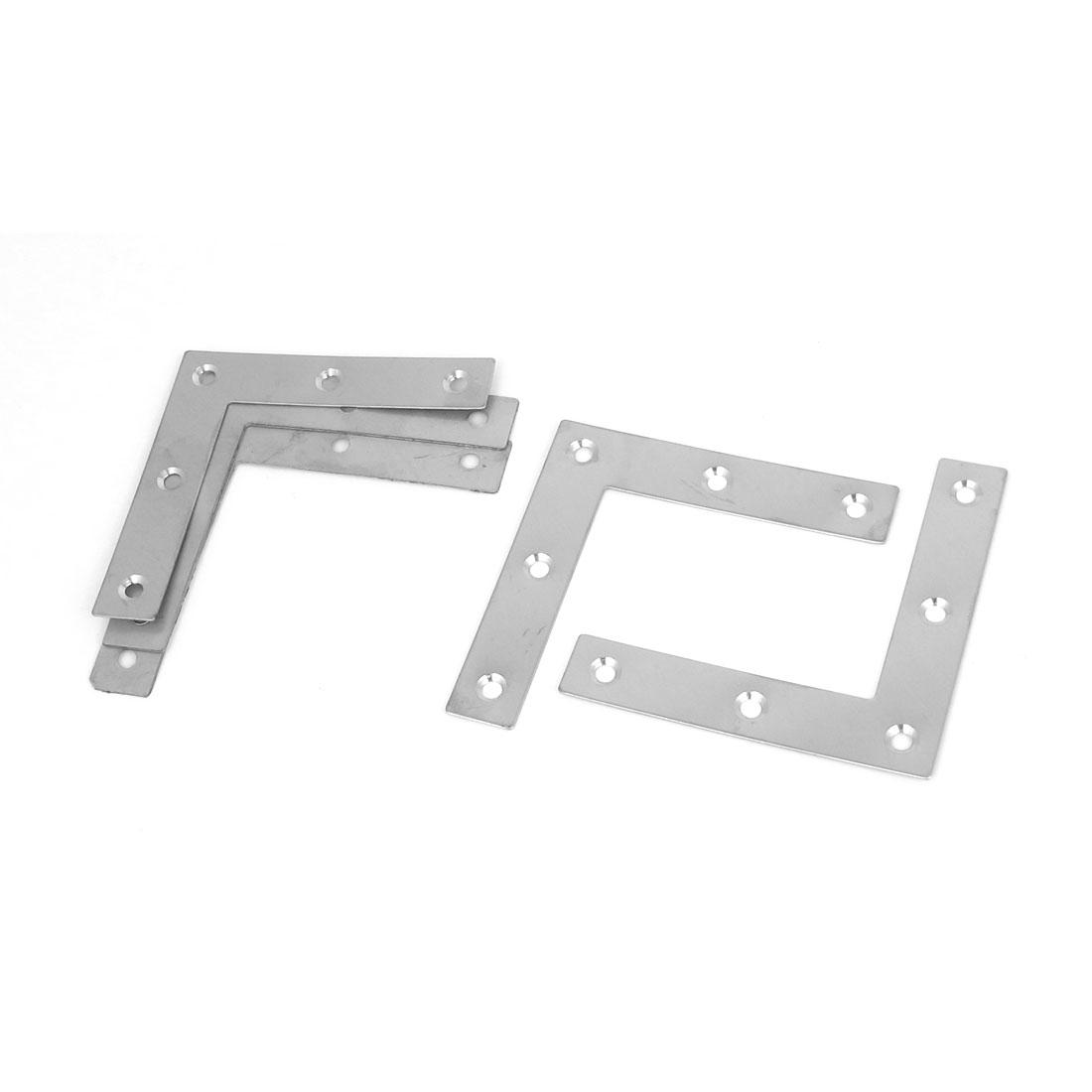 80mmx80mm Flat L Shape Corner Brace Plate Right Angle Bracket Support 5pcs