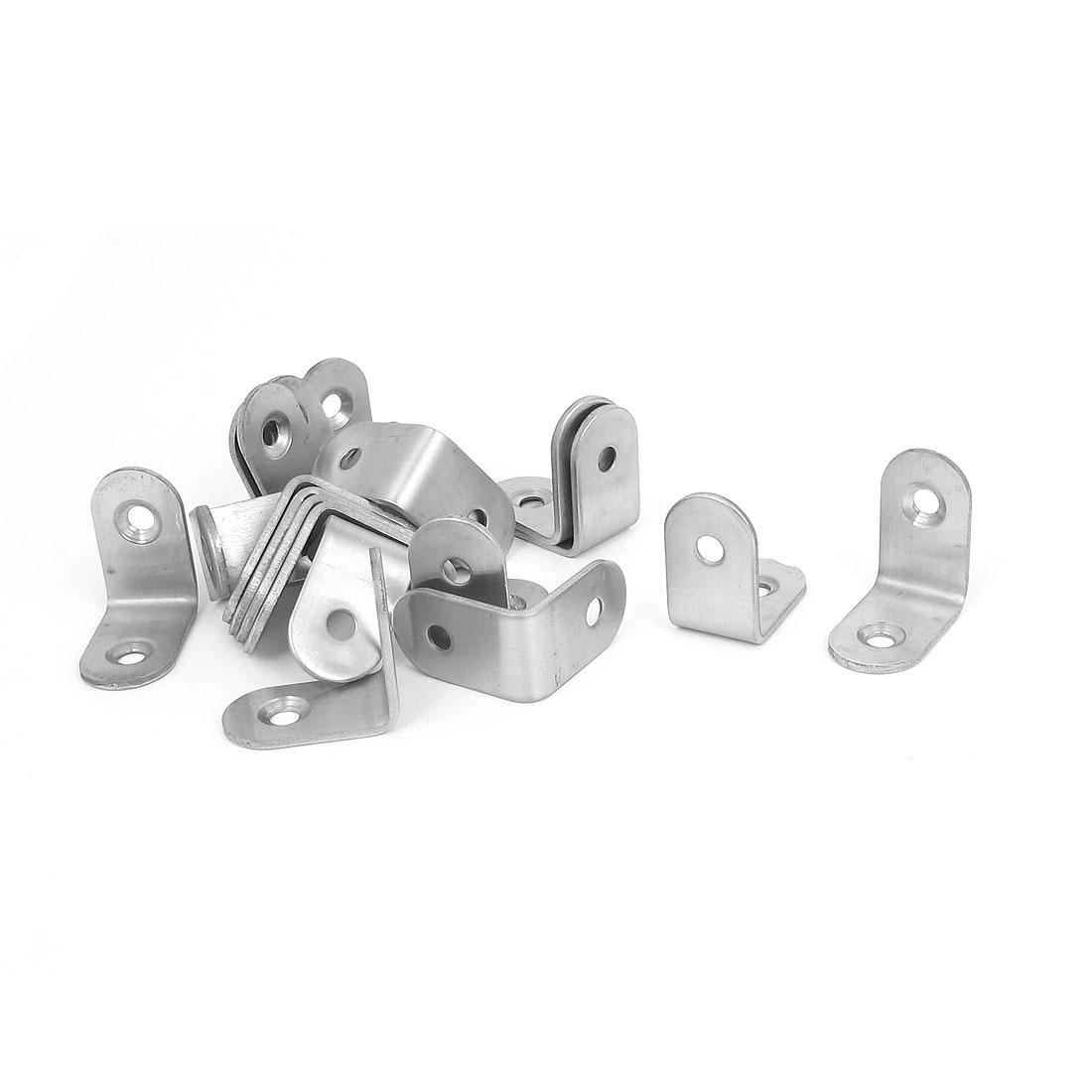 25mmx25mm L Shape Shelf Corner Brace Repair Right Angle Bracket Support 20pcs