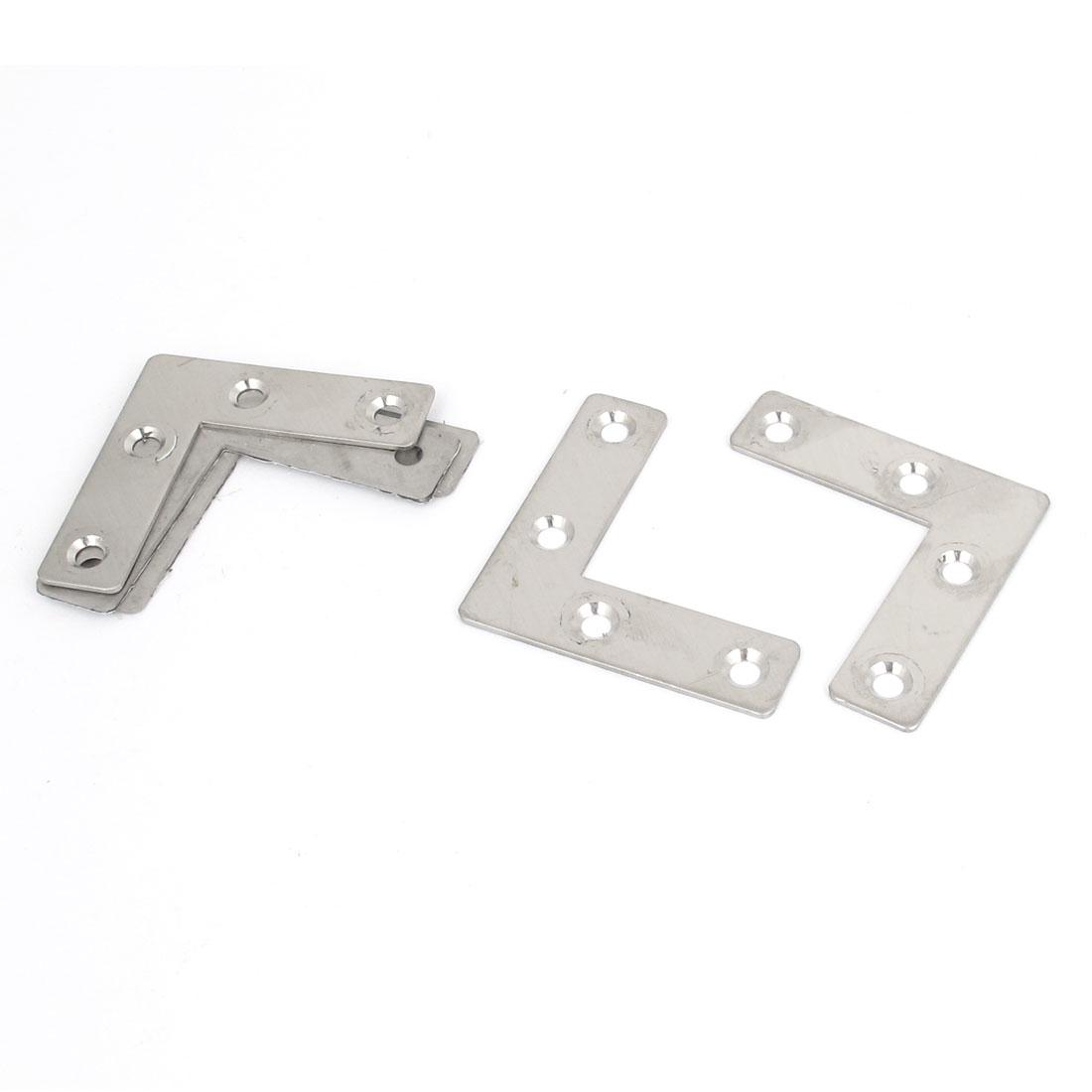50mmx50mm Flat L Shape Corner Brace Fixing Repair Plate Right Angle Bracket 5pcs