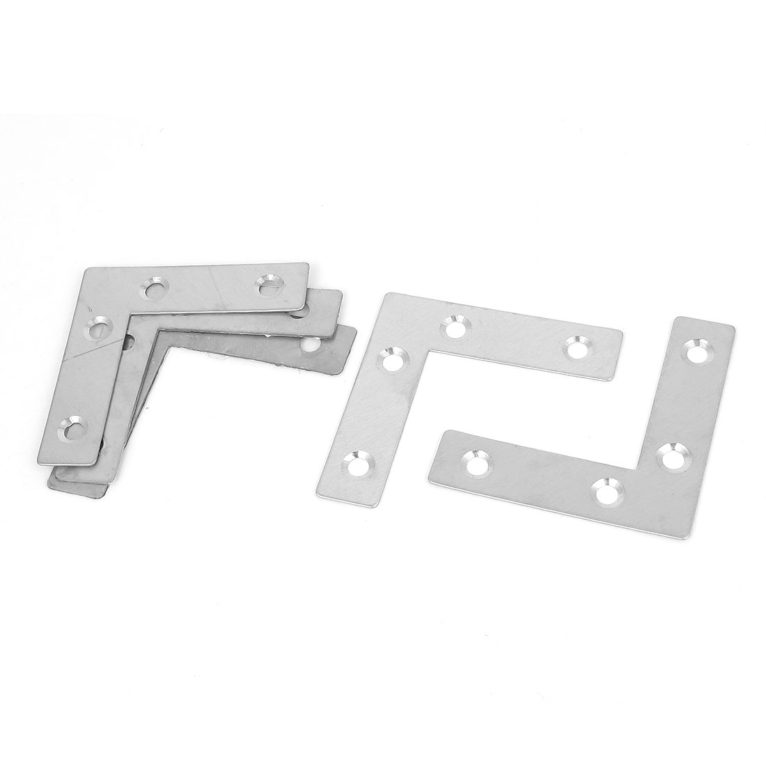 60mmx60mm Flat L Shape Corner Brace Plate Right Angle Bracket Support 5pcs
