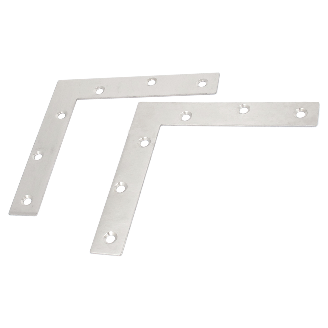 150mmx150mm Flat L Shape Corner Brace Repair Plate Right Angle Bracket 2pcs