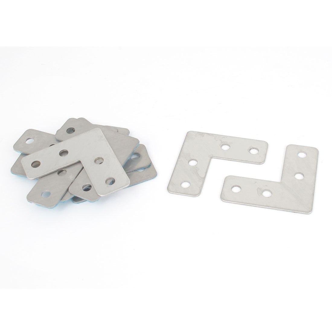 40mmx40mm Flat L Shape Corner Brace Fixing Repair Plate Right Angle Bracket 10pcs