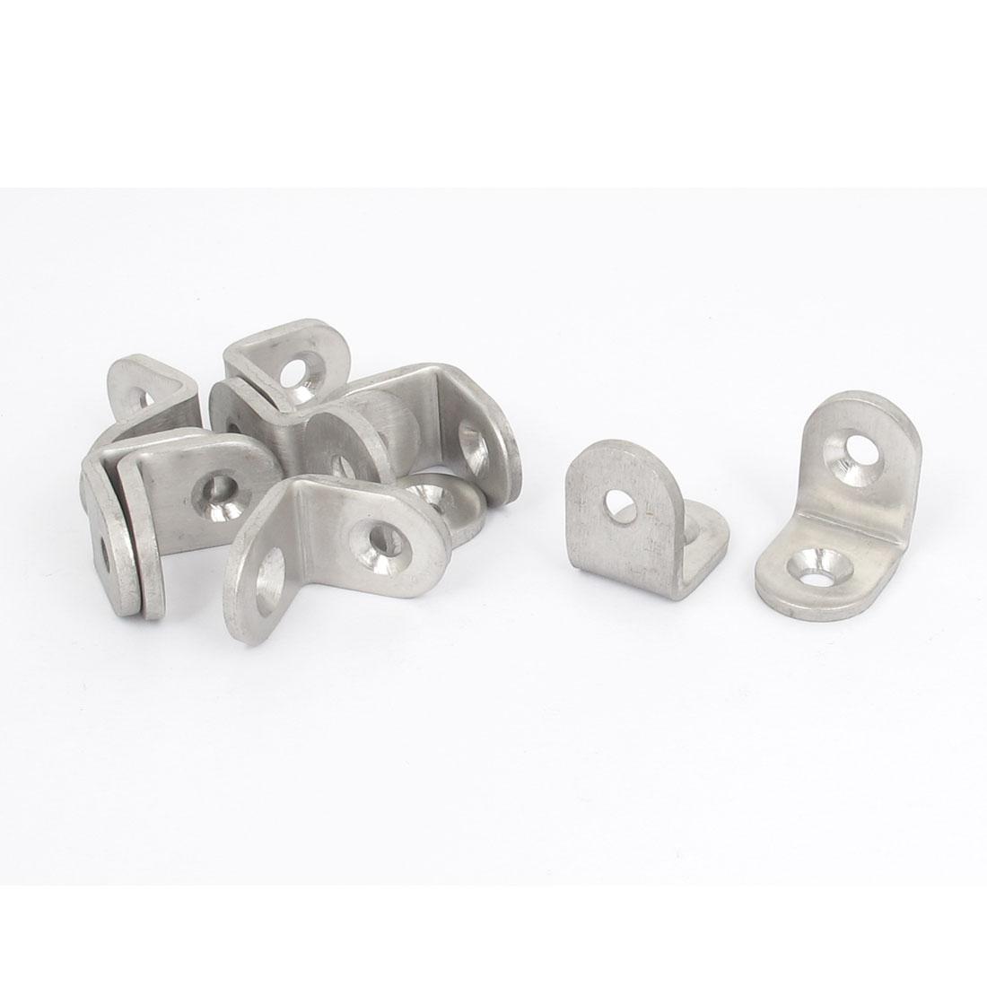 25mmx25mm L Shape Stainless Steel Shelf Corner Brace Repair Angle Bracket 10pcs