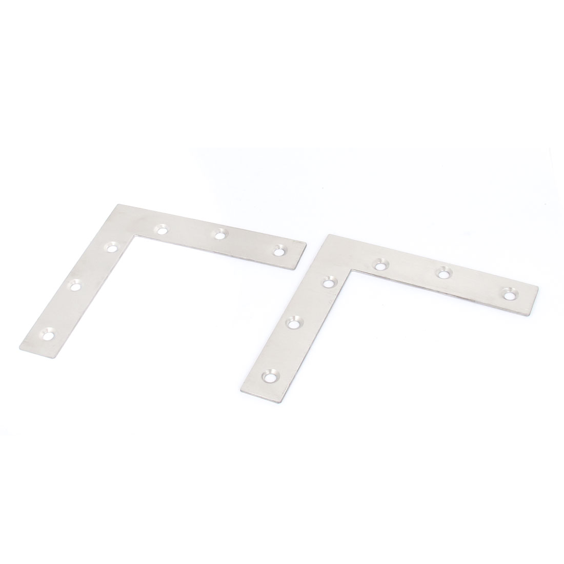 120mmx120mm Flat L Shape Corner Brace Repair Plate Right Angle Brackets 2pcs