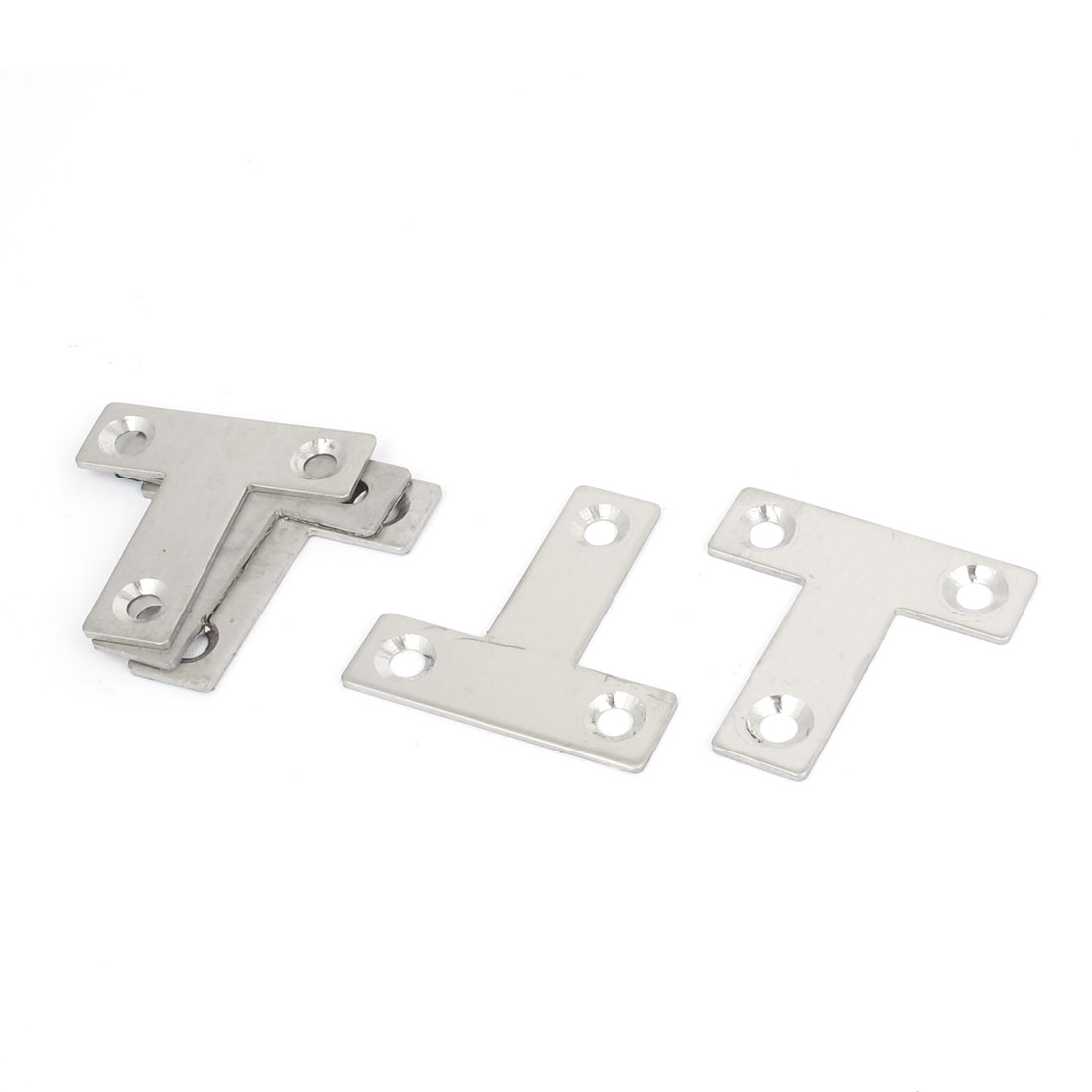 40mmx40mm Flat T Shape Angle Plate Corner Brace Repair Bracket 5PCS