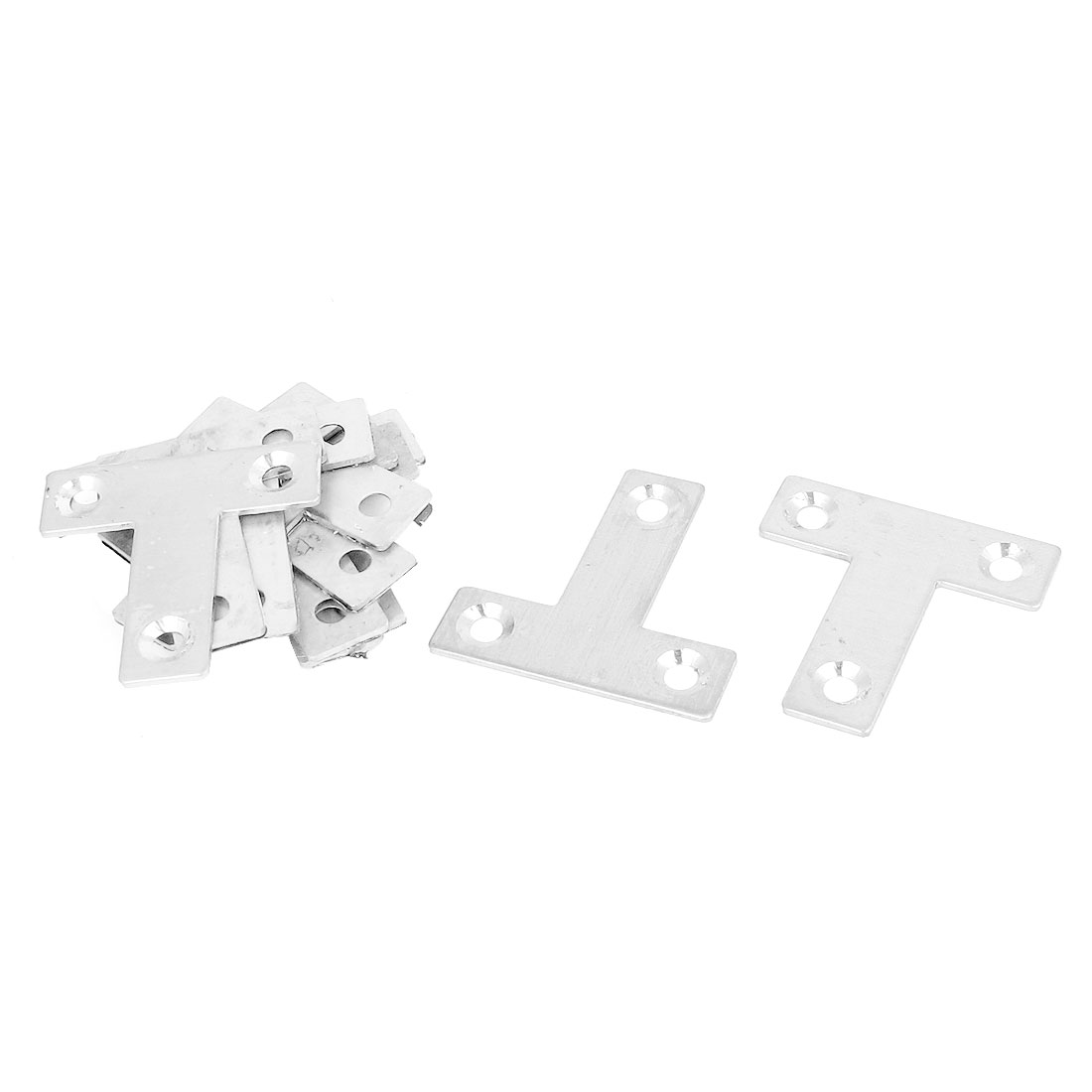 40mmx40mm Flat T Shape Corner Brace Mending Plate Angle Bracket 10PCS