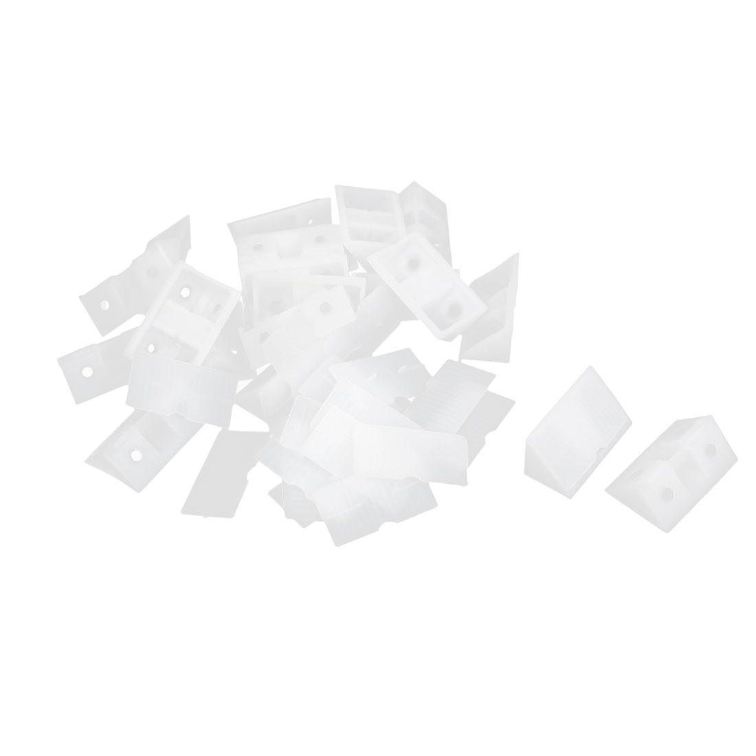 Shelf Closet Plastic Corner Braces Angle Brackets Furniture Assembly White 20pcs