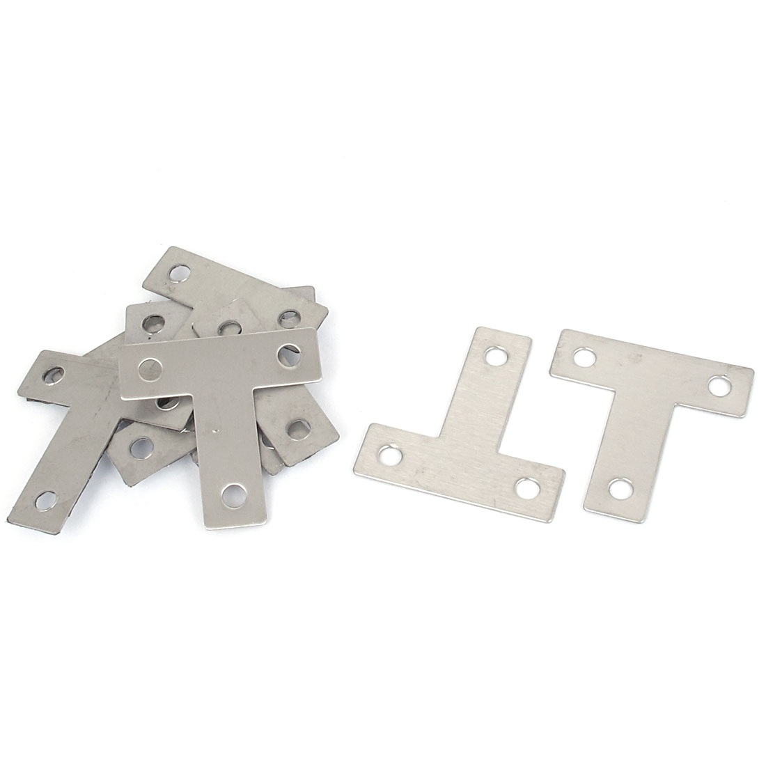 40mmx40mm Flat T Shape Angle Plate Corner Brace Repair Bracket 10PCS
