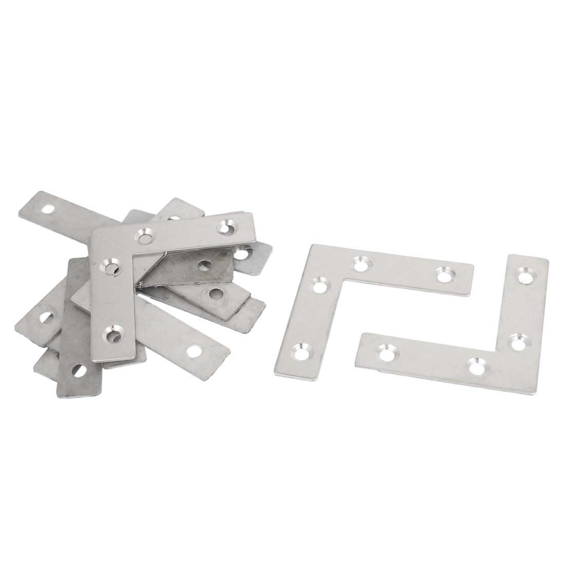 60mmx60mm Flat L Shape Corner Brace Fixing Repair Plate Right Angle Bracket 10pcs