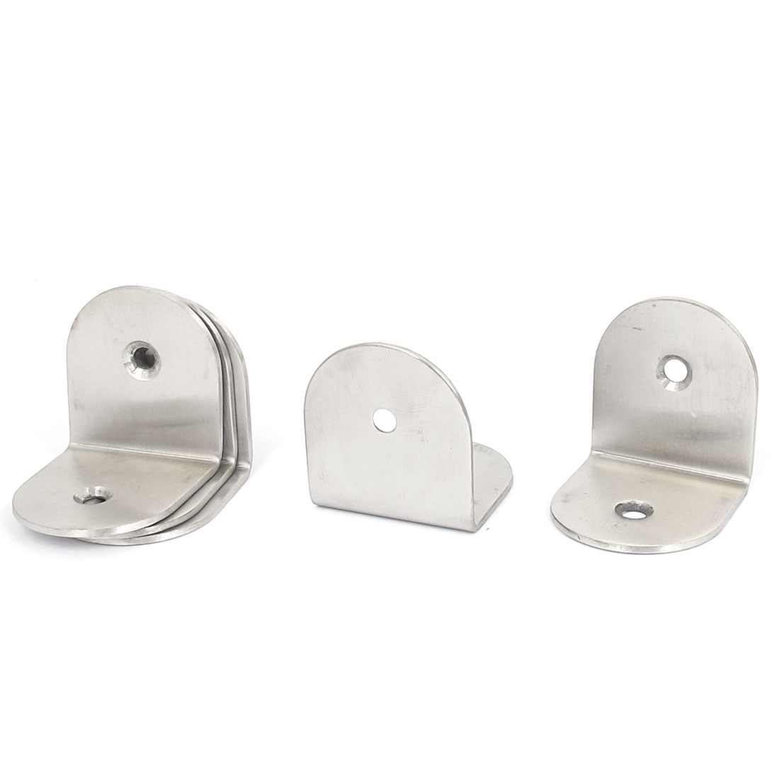 40mmx40mm L Shape Stainless Steel Shelf Corner Brace Repair Angle Bracket 5pcs