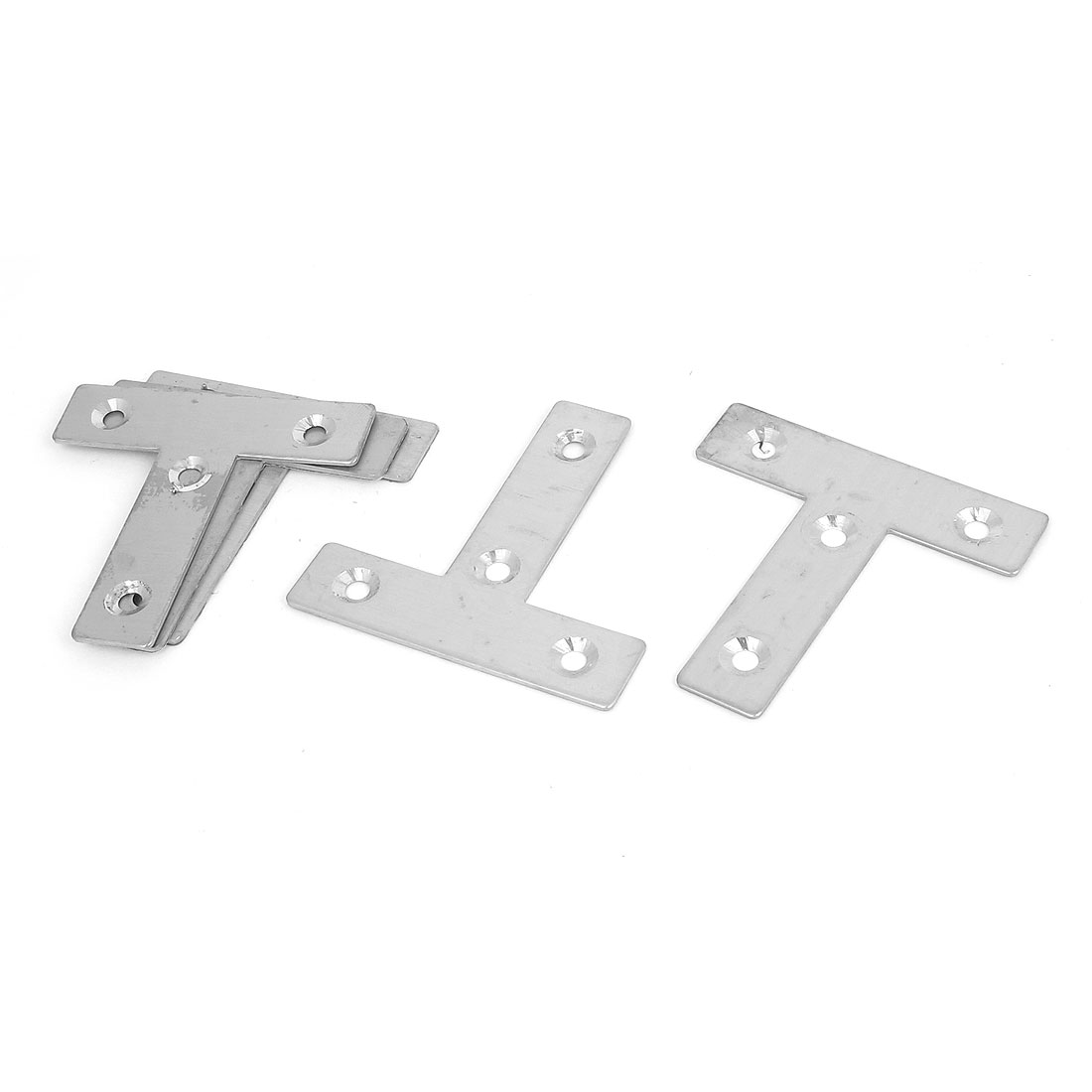 60mmx60mm Flat T Shape Angle Plate Corner Brace Repair Brackets 5PCS