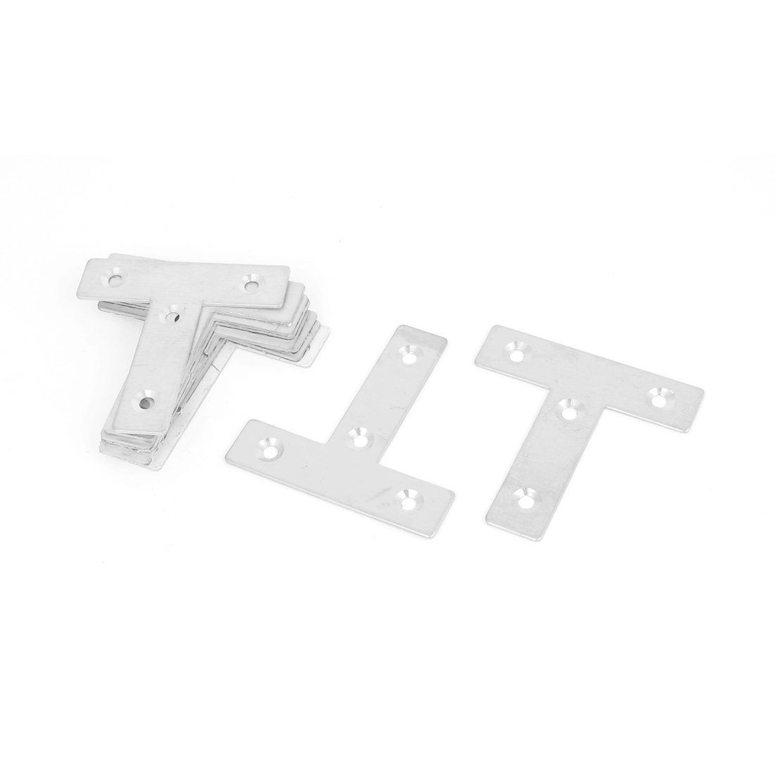 60mmx60mm Flat T Shape Angle Plate Corner Brace Repair Brackets 10PCS