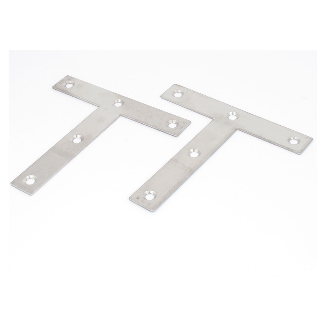 120mmx120mm Flat T Shape Angle Plate Corner Brace Repair Brackets 2pcs