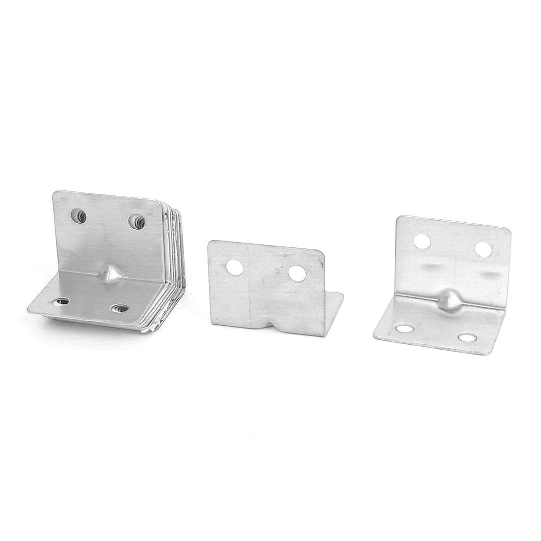 28mmx28mmx35mm L Shape Corner Brace Repair Right Angle Bracket Shelf Support 10pcs