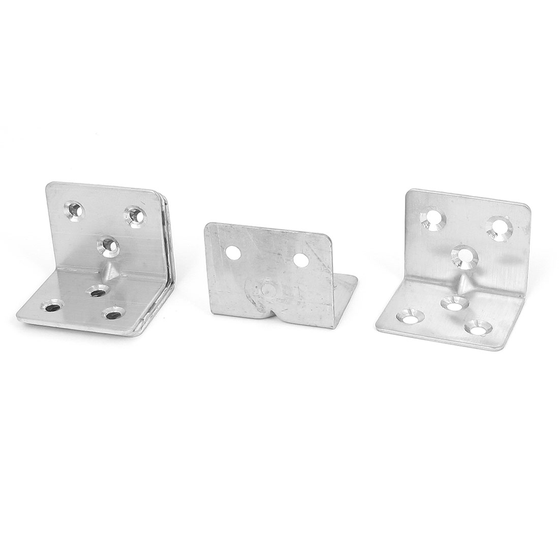 30mmx30mmx38mm L Shape Corner Brace Repair Right Angle Bracket Shelf Support 5pcs