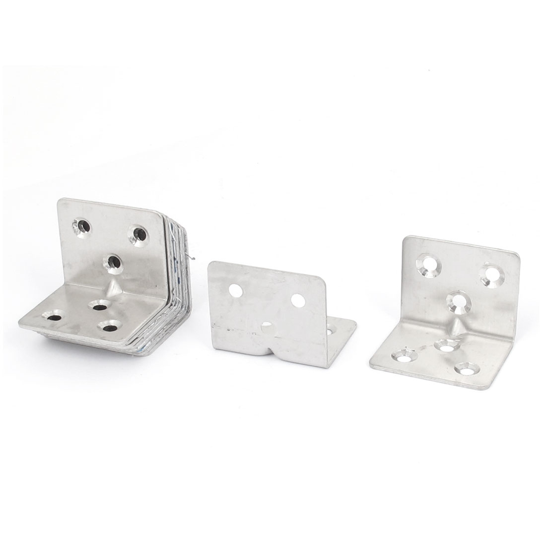 30mmx30mmx38mm L Shape Corner Brace Repair Right Angle Bracket Shelf Support 10pcs