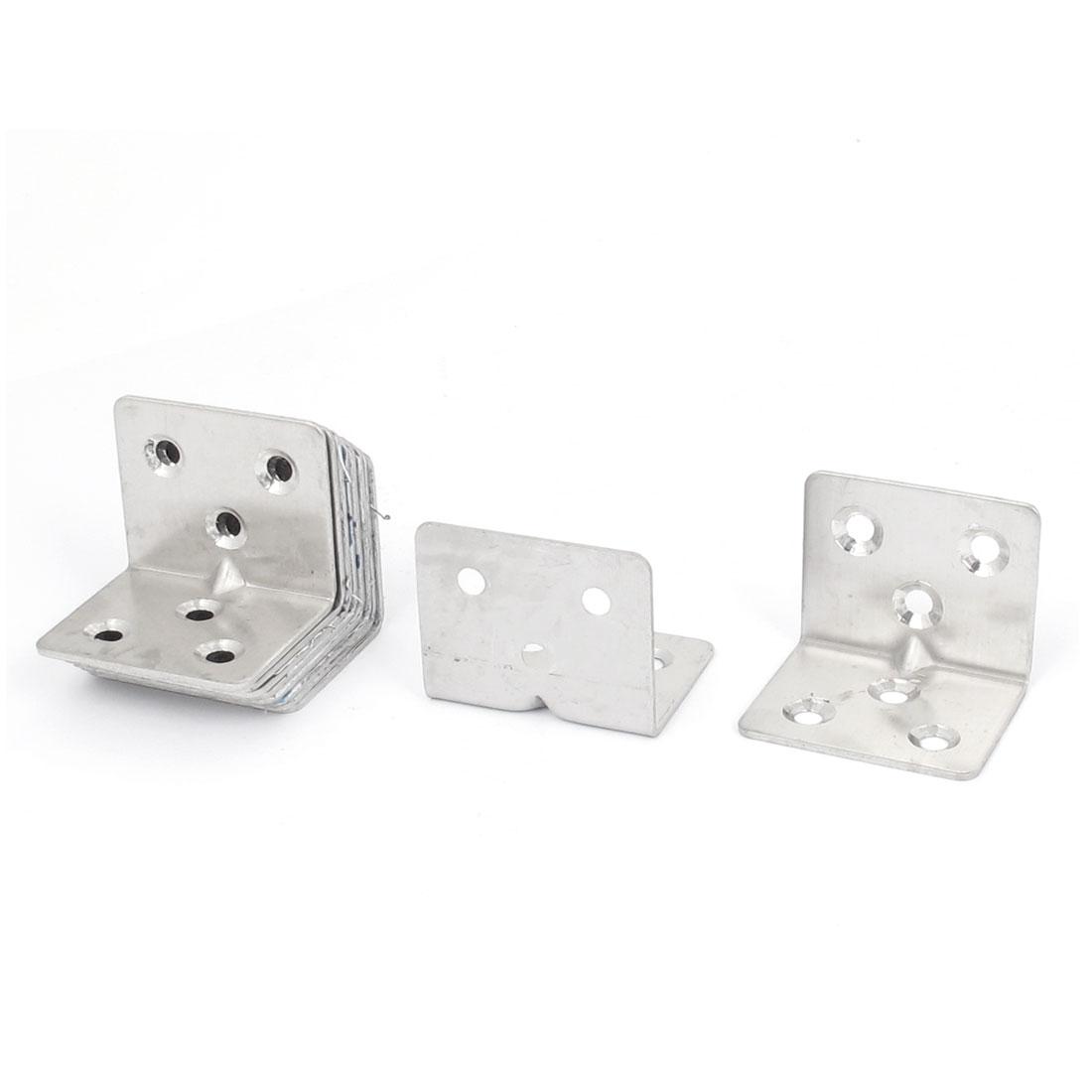 30mmx30mmx38mm L Shape Corner Brace Repair Right Angle Bracket Shelf Support 10pcs