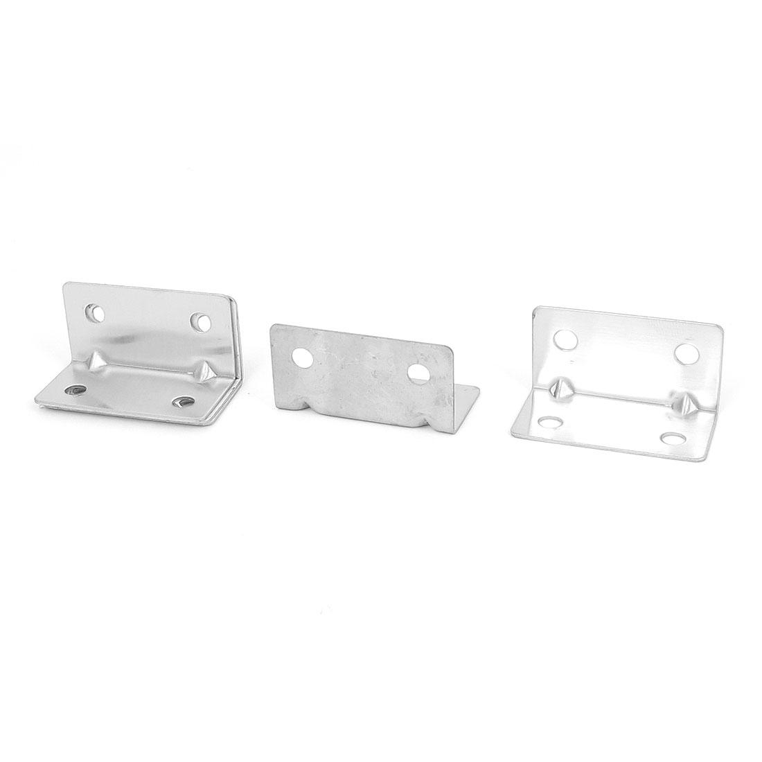 21mmx21mmx40mm L Shape Corner Brace Repair Right Angle Bracket Shelf Support 5pcs