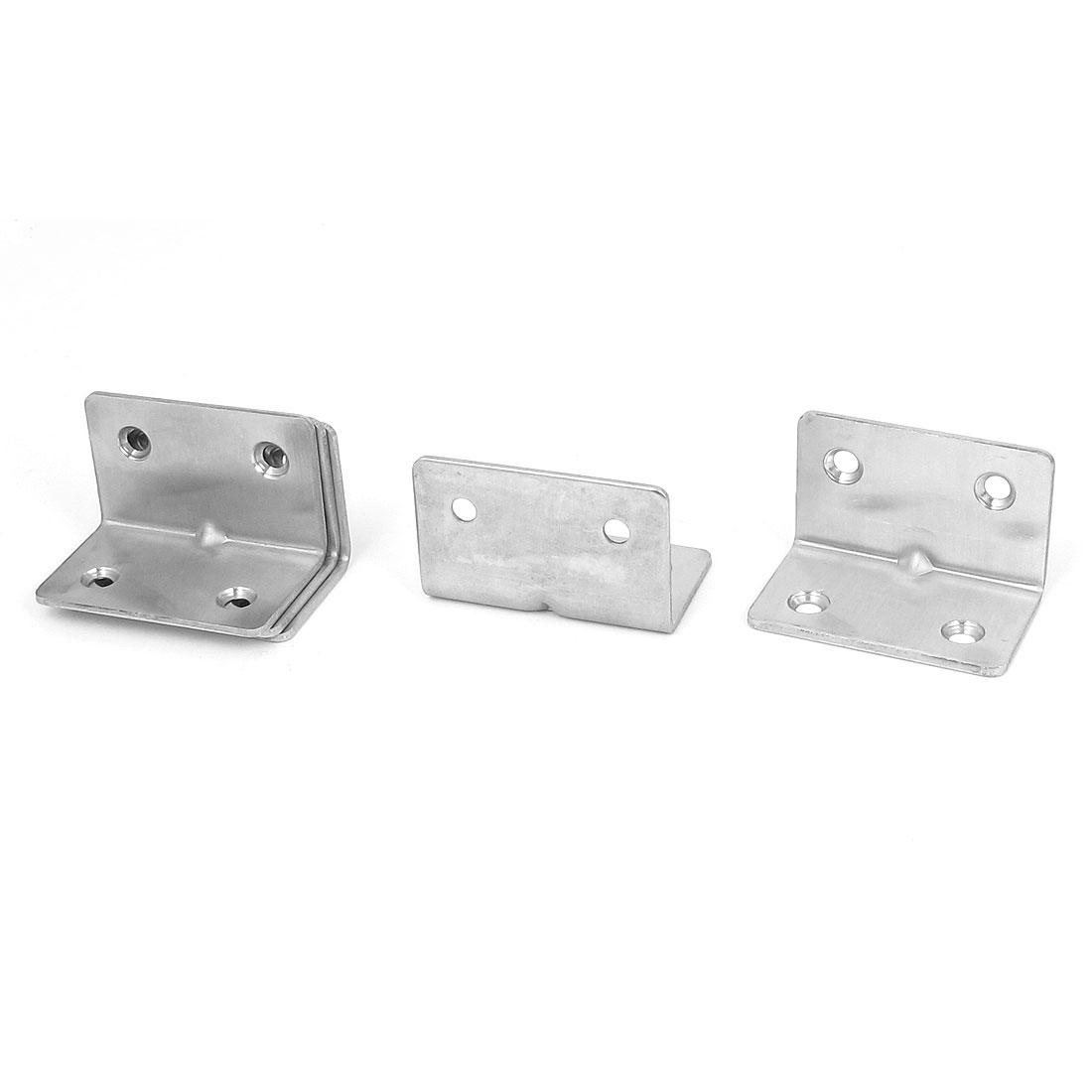 30mmx30mmx50mm L Shape Corner Brace Repair Right Angle Bracket Shelf Support 5pcs