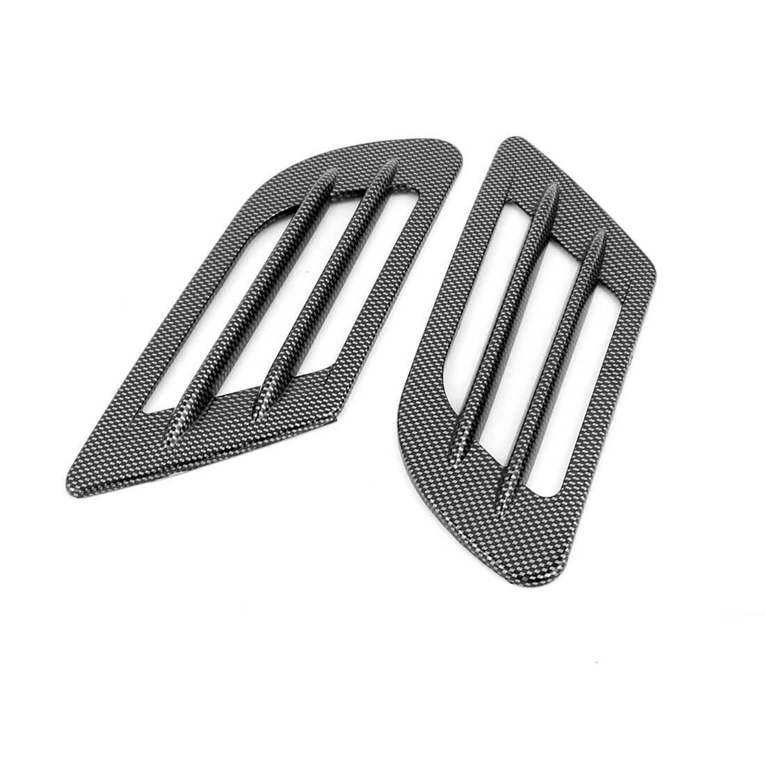 Car Auto Side Vent Fender Hole Cover Air Flow Intake Decoration Sticker 2Pcs