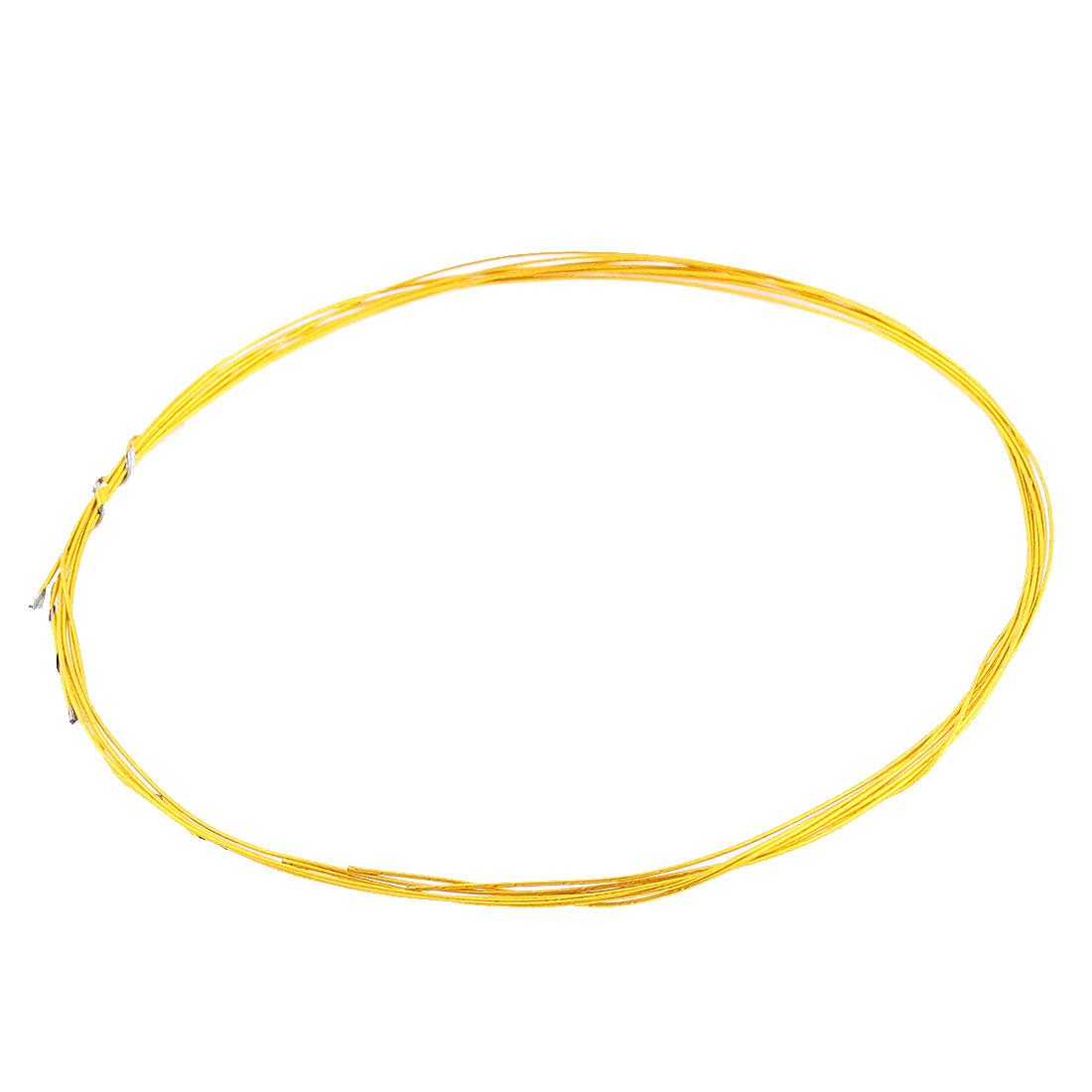 Dress Headdress Flower DIY Craft Jewelry Wire Gold Tone 1mm Dia 80cm 4 Pcs