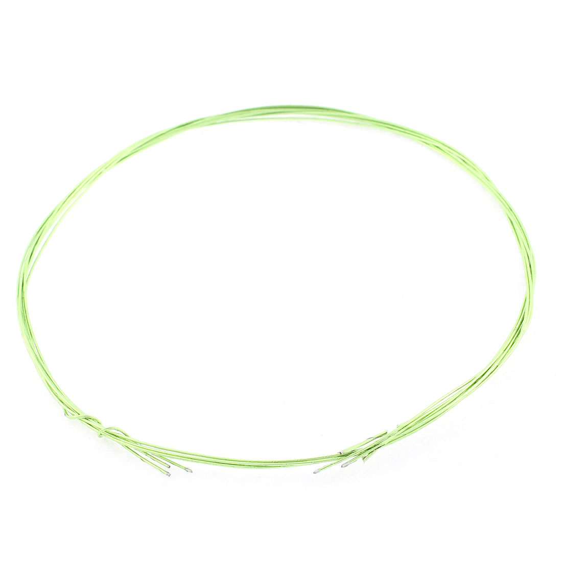 Dress Headdress Flower DIY Craft Jewelry Wire Light Green 1mm Dia 80cm 4 Pcs