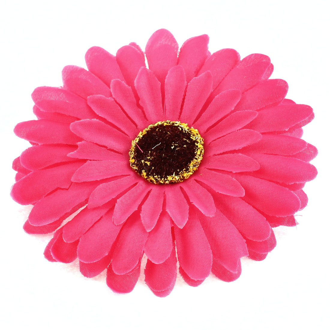 "Party Wedding Bride Artificial Daisy Flower Headwear Accessary 4"" Dia Fuchsia"