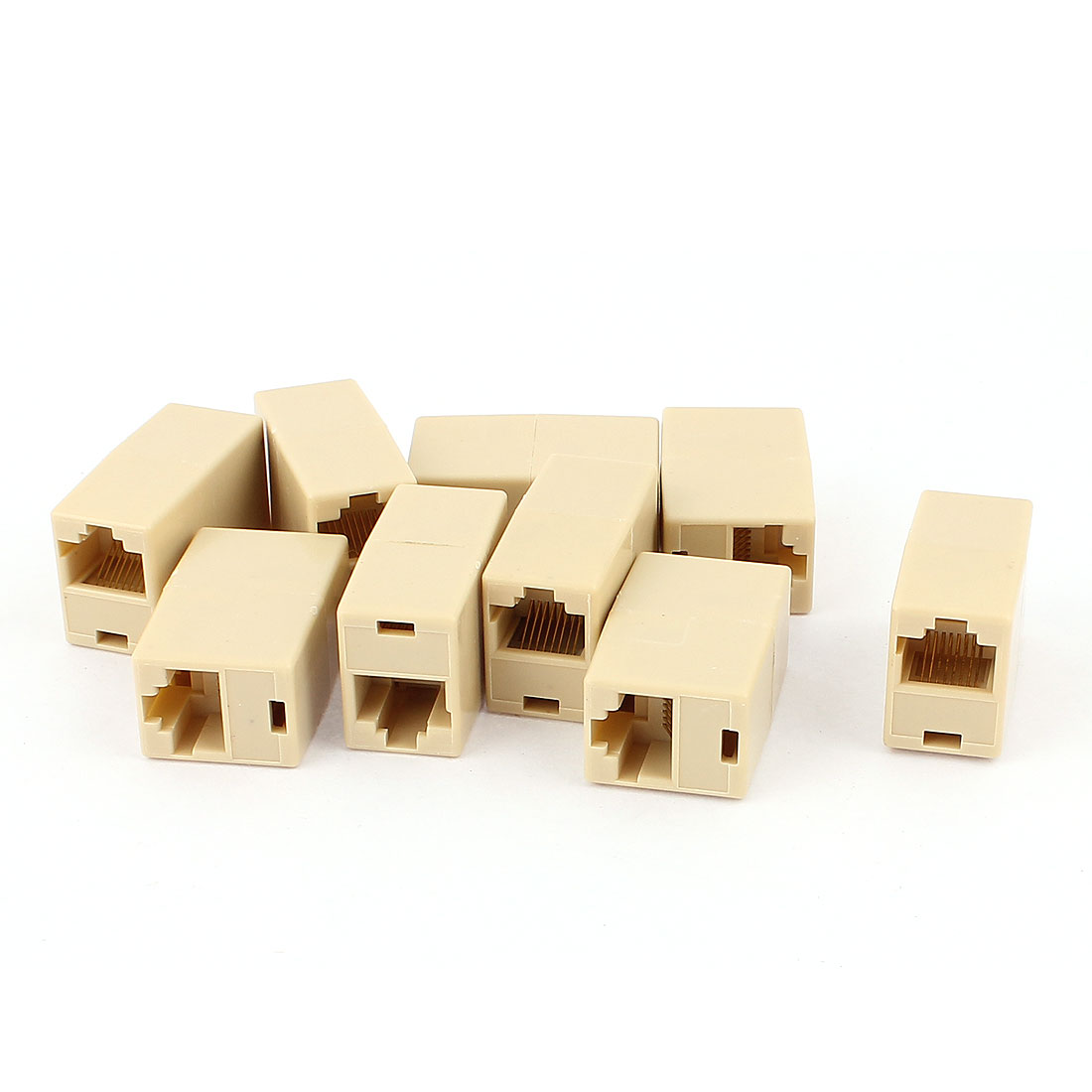 9 Pcs RJ45 8P8C Female to Female F/F Network Cable Coupler Connector Adapter Extender Joiner