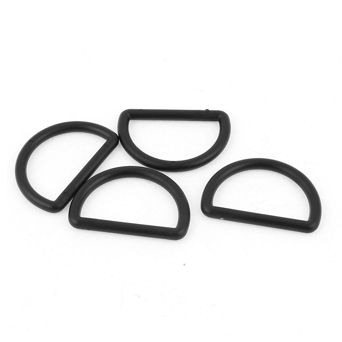 4 Pcs 38mm Black Plastic Backpack Handbag D Ring Hooks D Shaped Buckle