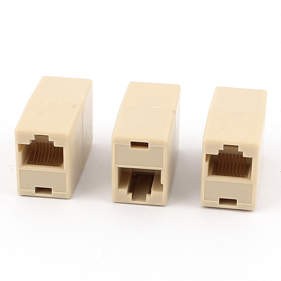 3 Pcs RJ45 8P8C Female to Female F/F Network Cable Coupler Connector Adapter Extender Joiner