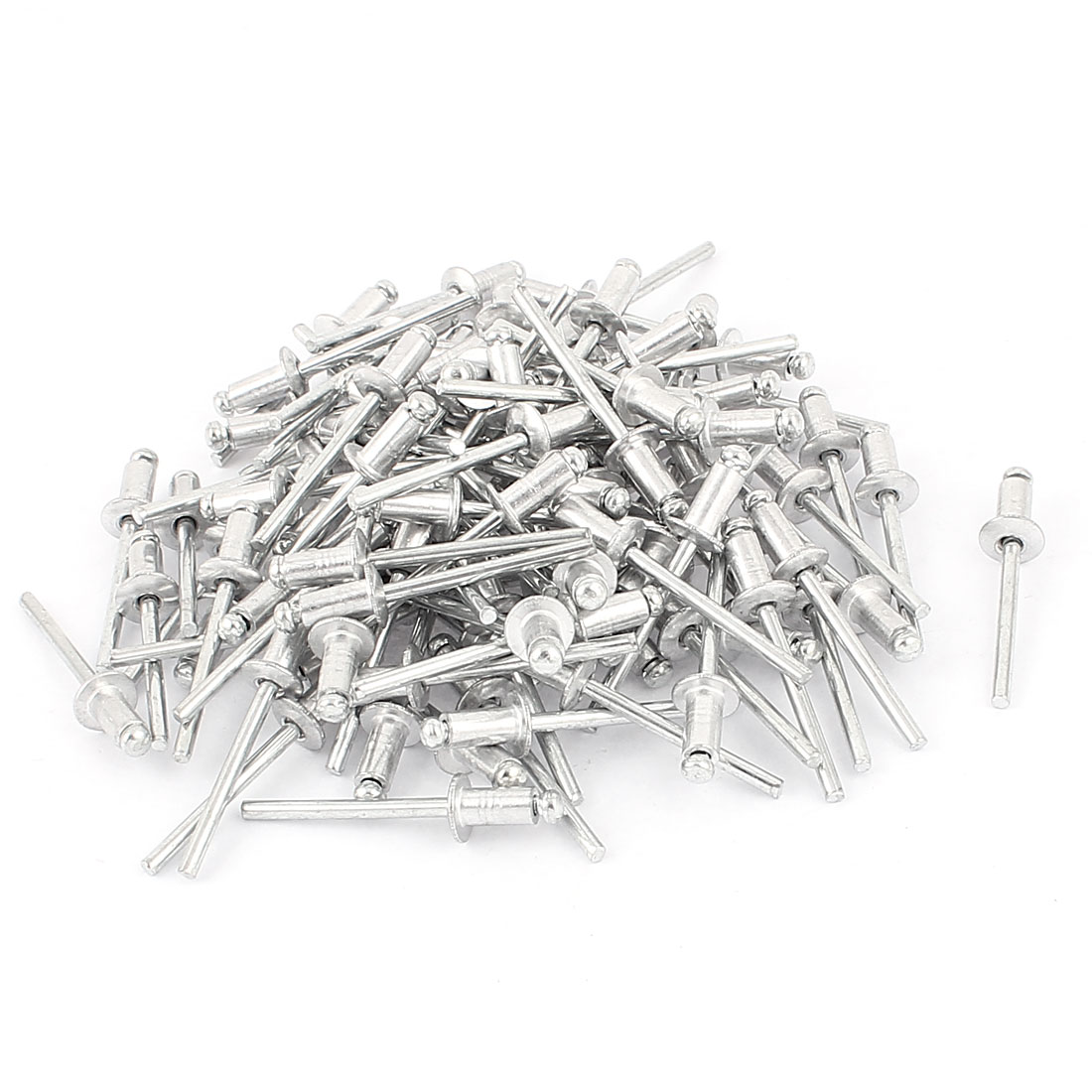 100Pcs 5mm x 9mm Tip 43mm Long Aluminum Open End Dome Head Lock Type Self-plugging Blind Rivets