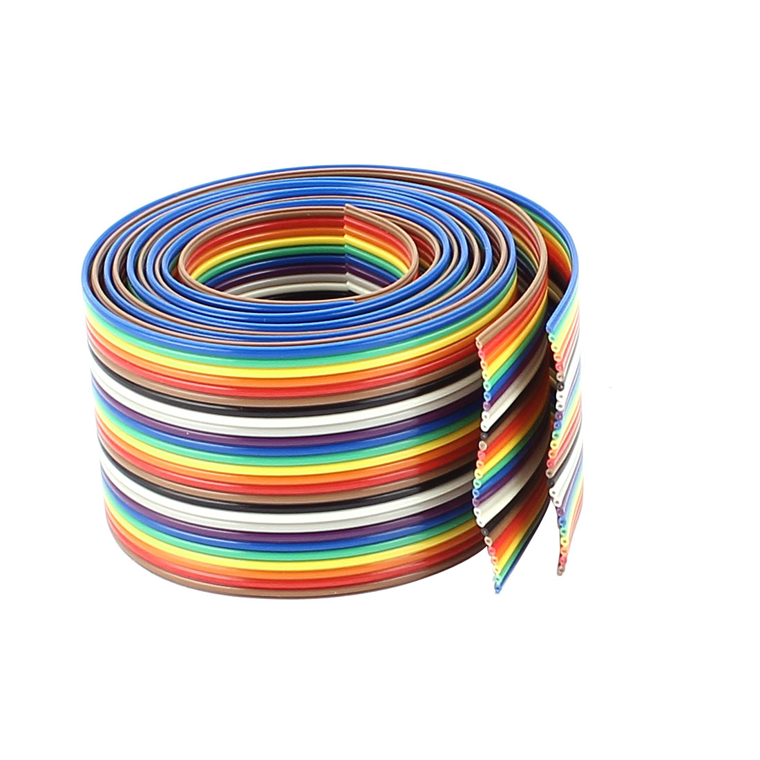 2pcs 67cm 2.2ft Long 26Pin 1.27mm Pitch Conductor Rainbow Color Flat Ribbon Cable IDC Wire