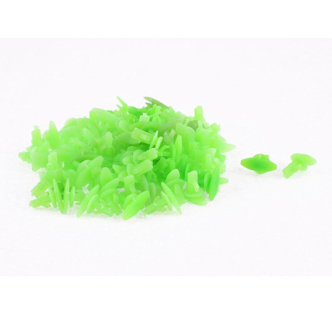 6mm Hole Plastic Rivets Fastener Clips Green 100Pcs