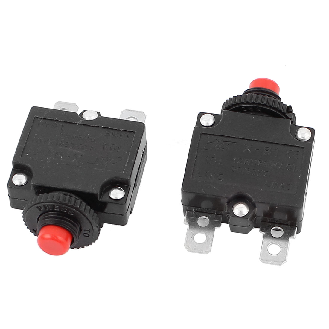 2 Pcs AC 250V/125V 10A Circuit Breaker Thermal Overload Protection Device for Electric Cooker