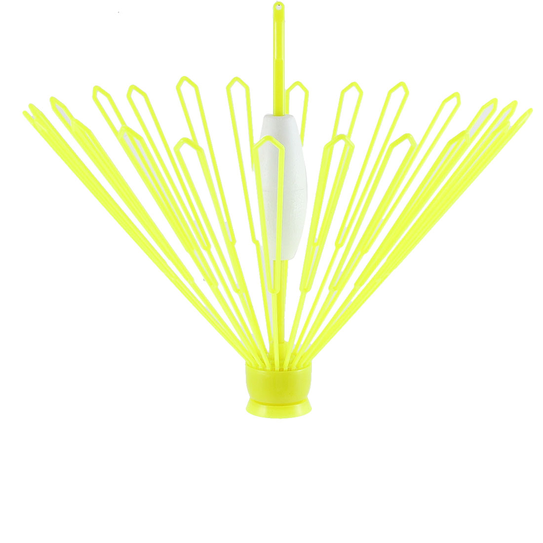 Plastic Automatic Umbrella Shaped Fishing Float Recoverer Yellow