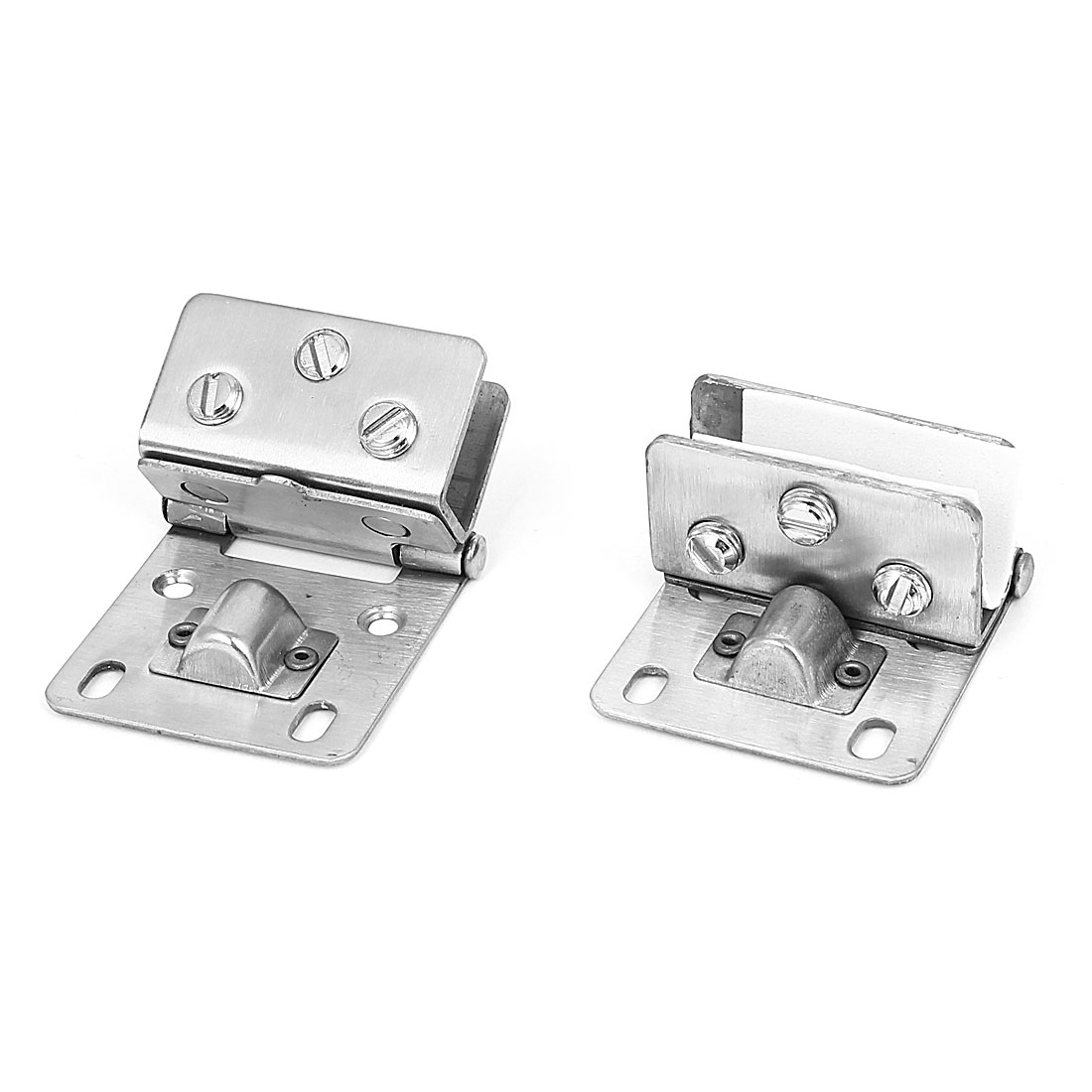 Stainless Steel 9mm-12mm Thickness Glass Shelf Clips Clamps Support Bracket 2 Pcs