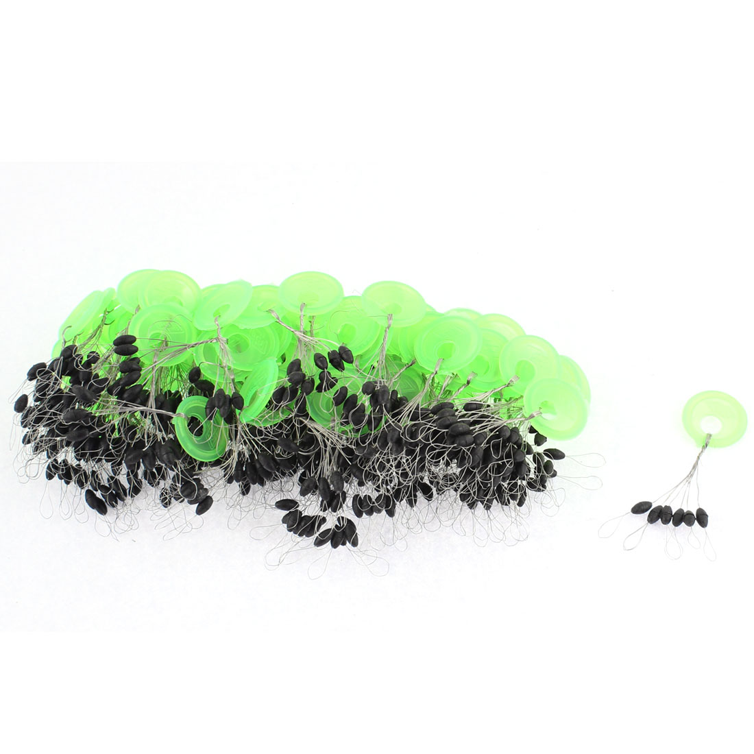 50Pcs Plastic Round Ring Oval Float Fishing Bobber Stopper Accessory