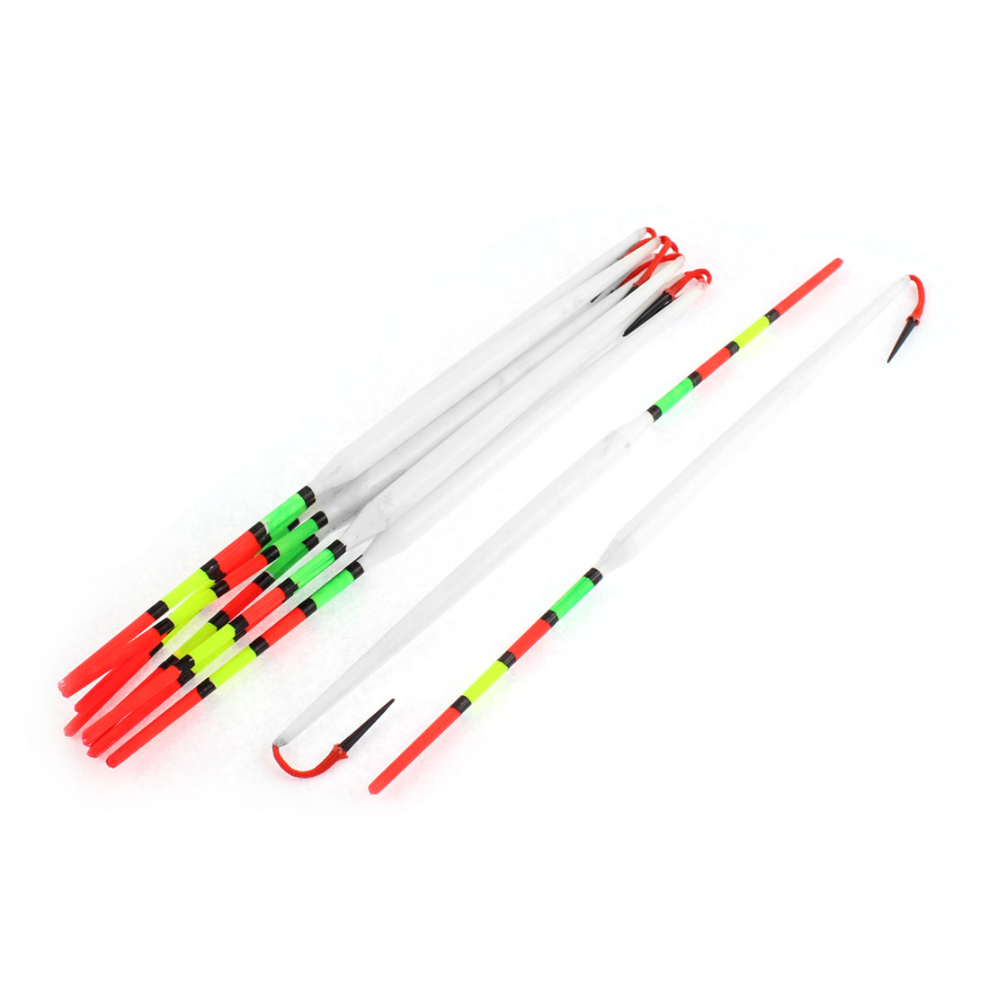Plastic Fishing Tackle Tool Slip Bobber Float 22cm Long 10 Pcs Multicolor