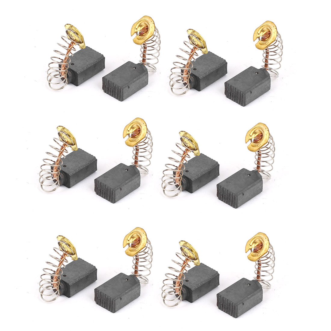 6 Pairs Electric Drill Motor Rotary Power Tool Carbon Brush 13mmx9mmx6mm Grey