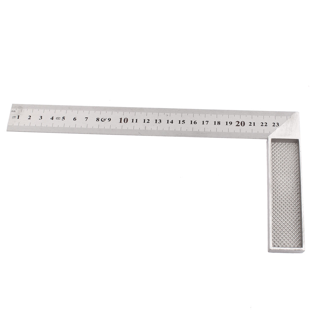 25cm Scale Try Mitre Angle Square Metric Ruler Silver Tone