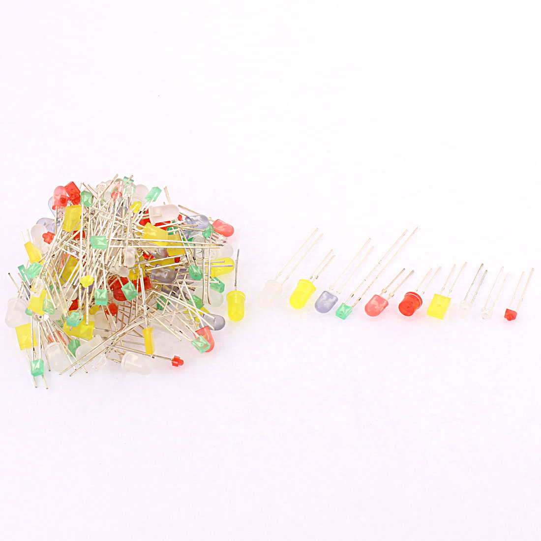 160 Pcs 2.54mm Lead Pitch LED Light Emitting Diodes